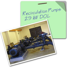 Recirculation Pumps  DOL
